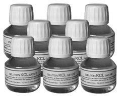 8 Bouteilles de Solution satur�e de KCl 50 ml