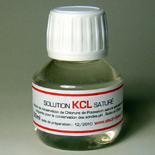 1 Bouteille de Solution saturée de KCl 50 ml