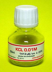 1 Bouteille 50ml de Solution étalon KCL 0.01M 1413 �S/cm � 25�C