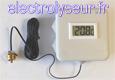 Thermomètre numérique avec sonde étanche à vis 3/8 pouce