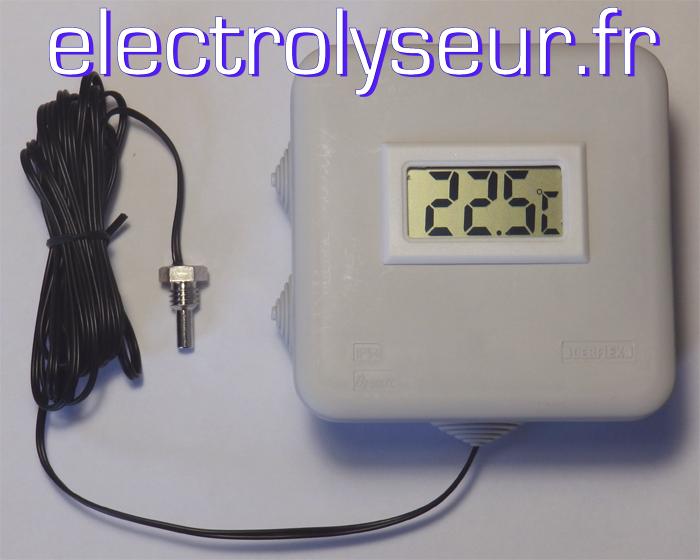Thermomètre numérique pour circuits de fluides