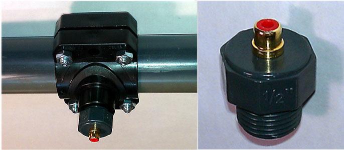 montage de la sonde de température sur son collier de prise en charge