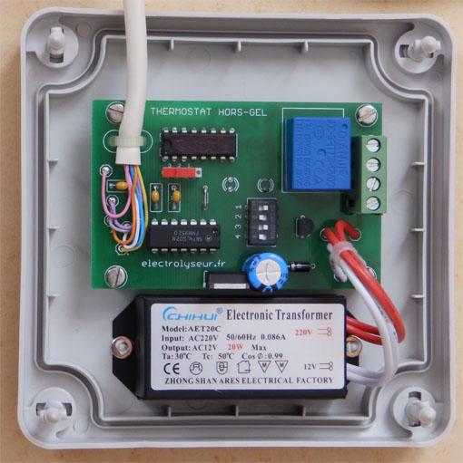 module électronique du coffret